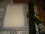Изготовление рамки с трафаретной сеткой